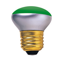 Colored Bulbs Incandescent R14 E26 40 watt 120V Bulb in Green