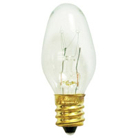 Bulbrite Night Light C7 Candelabra Base Bulb in Clear (25 Pack) 4C7C-25PK