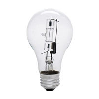 Bulbrite 53A19CL/ECO General Service Halogen A19 E26 53 watt 120V 2900K Bulb in Clear photo thumbnail