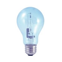 Bulbrite 53A19CL/N/ECO True Daylight Halogen A19 E26 53 watt 120V 2700K Bulb in Clear photo thumbnail