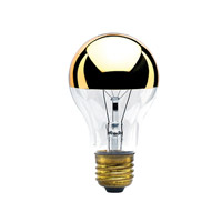 Bulbrite Incandescent Dimmable 60W E26 Light Bulb in Clear Half Gold 60A19HG