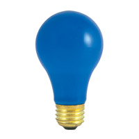 Bulbrite 60A/CB-18PK Colored Lamps Incandescent A19 E26 60 watt 120V Bulb Pack of 18