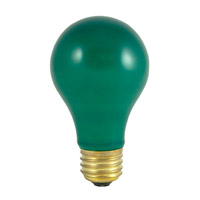 Colored Bulbs Incandescent A19 E26 60 watt 120V 2700K Bulb in Ceramic Green