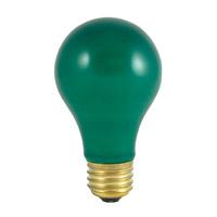 Bulbrite 60A/CG-18PK Colored Lamps Incandescent A19 E26 60 watt 120V Bulb Pack of 18