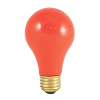 Colored Bulbs Incandescent A19 E26 60 watt 120V 2700K Bulb in Ceramic Orange