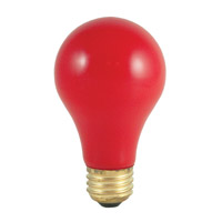 Colored Bulbs Incandescent A19 E26 60 watt 120V 2700K Bulb in Ceramic Red