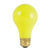Colored Bulbs Incandescent A19 E26 60 watt 120V 2700K Bulb in Ceramic Yellow