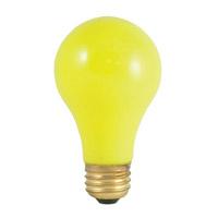 Bulbrite 60A/CY-18PK Colored Lamps Incandescent A19 E26 60 watt 120V Bulb Pack of 18