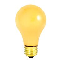 Bulbrite 60A/YB-12PK Yellow Bug Light Incandescent A19 E26 60 watt 130V Bulb Pack of 12