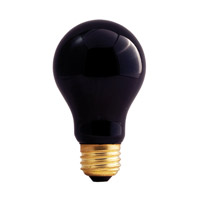 Bulbrite 75W Black Light A Shape Bulb 75A/BL