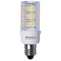 Bulbrite LED4E12/30K/120/D-2PK Specialty Minis LED T4 E12 4.50 watt 120 3000K Bulb