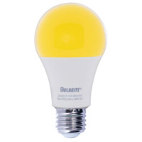 Bulbrite LED9A19/YB-2PK Yellow Bug LED A19 E26 9.50 watt 120 2700K Bulb Pack of 2