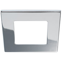 Bulbrite LEDMAG4/TSCH Signature 6 inch Chrome Magnetic Downlight, Square Trim