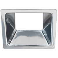 Bulbrite LEDMAG4/RSCH Signature 4 inch Chrome Magnetic Downlight, Square Reflector
