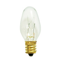 Bulbrite 7W C7 Christmas Light, Clear 7C7C