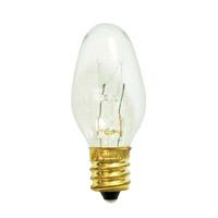 Bulbrite 7C7C-75PK Holiday & Night Light Incandescent C7 E12 7 watt 120V 2700K Bulb Pack of 75