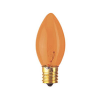 Bulbrite 7W C9 Christmas Light, Transparent Amber 7C9TA