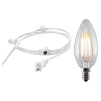 Bulbrite STRING15/E12/WHITE-LED2B11-KT Signature 15 Light LED 25 foot White Outdoor String Lights