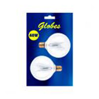 Bulbrite 40 Watt Incandescent G16.5 Globe Candelabra Base Clear 2-Pack B40G16CL