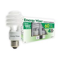 Bulbrite 13W 120V Energy Wiser Compact Fluorescent Coil 4-Pack, Cool White CF13CW/4P photo thumbnail