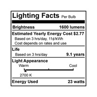 Bulbrite 23W Super Mini Low-Mercury Compact Fluorescent Coil, Warm White CF23WW/LM