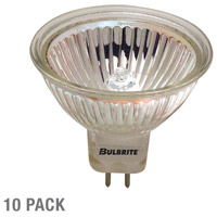 Bulbrite 50W 12V Halogen, MR16 Bi-Pin, Flood, 10-Pack EXN-10PK