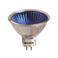 Bulbrite EXN/B MRs Halogen MR16 GU5.3 50 watt 12V 2700K Bulb in Blue, Flood photo thumbnail