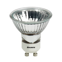 Bulbrite 50W 120V Halogen, MR16 Lensed GU10 Base, Flood EXN/GU10