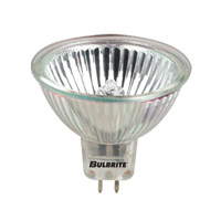 Bulbrite 50W 12V Halogen, MR16 Long Life Lensed Bi-Pin, Wide Spot EXT/10M