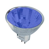 Bulbrite FTD/B MRs Halogen MR11 GU4 20 watt 12V 2700K Bulb in Blue Flood
