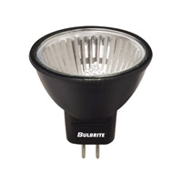 Bulbrite FTD/BLK MRs Halogen MR11 GU4 20 watt 12V 2700K Bulb in Black, Flood photo thumbnail