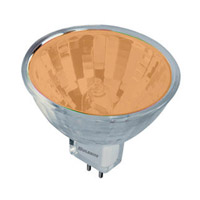 Bulbrite 20W 12V Halogen, MR11 Bi-Pin, Orange FTD/O