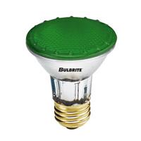 Bulbrite 50W Halogen PAR20, Green 120V H50PAR20G