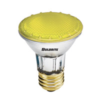 Bulbrite 50W Halogen PAR20, Yellow 120V H50PAR20Y