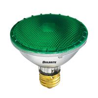 Bulbrite 75W Halogen PAR30, Green 120V H75PAR30G