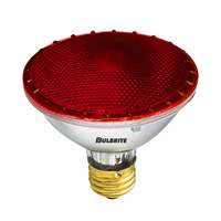 Bulbrite 75W Halogen PAR30, Red 120V H75PAR30R