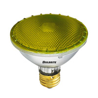 Bulbrite 75W Halogen PAR30, Yellow 120V H75PAR30Y