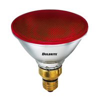 Bulbrite 90W Halogen PAR38, Red 120V H90PAR38R
