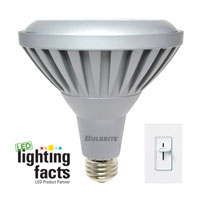 LED Dimmable LED PAR38 E26 11 watt 120V 3000K Bulb in Narrow Flood