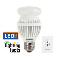 Bulbrite 12-Watt Dimmable LED A19, Medium Base, Soft White LED12A19/O/30K/D