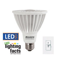 Bulbrite LED Dimmable 14W E26 Light Bulb in Cool White LED14PAR30WFL/L/40K/D