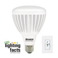 Bulbrite 15-Watt Dimmable LED BR30 Reflector, Soft White (3000K) LED15BR30WW/D photo thumbnail