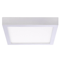 Bulbrite LED15DL/7/940/SLSQ/J/D Ceiling Light LED 7 inch Silver Flush Mount