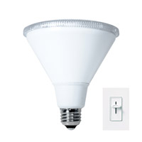 PARs LED PAR38 E26 16 watt 120V 3000K Light Bulb in Wide Flood