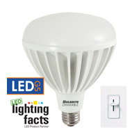 Bulbrite 20-Watt Dimmable LED BR40 Reflector, Medium Base, Warm White LED20BR40/27K/D