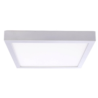 Bulbrite LED20DL/9/930/SLSQ/J/D Ceiling Light LED 9 inch Silver Flush Mount