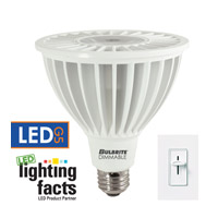 Bulbrite 20-Watt Dimmable LED PAR38, Medium Base, Soft White LED20PAR38NF/30K/D