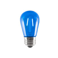 Bulbrite LED2S14/BLU/FIL-5PK Filaments LED S14 E26 2.00 watt 120 Bulb Pack of 5