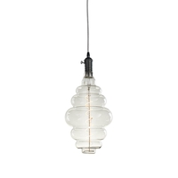 Bulbrite LED4BH/22K/FIL/PEND/HW/VINT/GM-SILV Vintage LED Gunmetal Pendant Ceiling Light