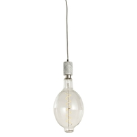 Bulbrite LED4BT56/22K/FIL/PEND/HW/NAT/WHT-SILV Natural LED White Pendant Ceiling Light
